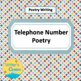 Telephone Number Poetry, CCSS, Sub Plan, Creative Writing, Fun Stuff