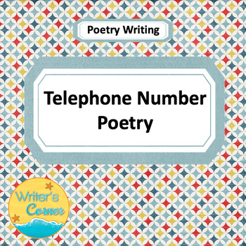 Poetry Writing! Telephone Number Poetry CCSS, Sub Plan, Cr