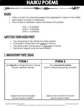 Poetry Writing Unit:  11-Day Engaging Poetry Study and Writing Unit