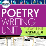Poetry Writing Unit - Poetry Reading and Writing (Google Classroom Options)