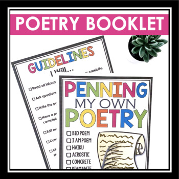 POETRY WRITING BOOKLET