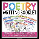 POETRY WRITING UNIT BOOKLET: HAIKU, ACROSTIC, LIMERICK, CO