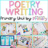 Poetry Writing Unit - Poetry Notebook, Posters, and Activities for Primary