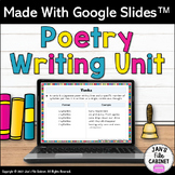 Poetry Writing Unit Types of Poems GOOGLE SLIDES Distance Learning