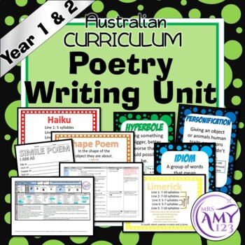Poetry Writing Unit -Year 1 & 2- Aligned with ACARA