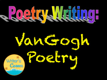 Interactive Notebook VanGogh Paintings and Poetry Terms, Sub, Art, Fun