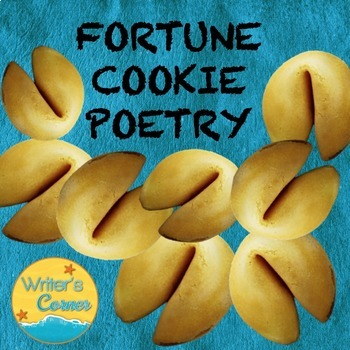 Writing Fortune Cookie Poetry, Substitute Plan, Cooking, Fun