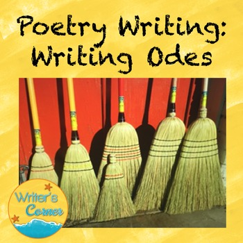 Writing Odes, Creative Writing, Fun Stuff, Substitute Plan, CCSS
