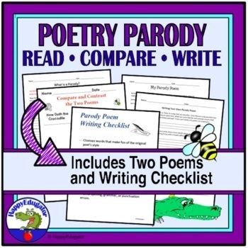 Poetry - Writing a Parody Poem Activity - How Doth the Little Crocodile