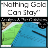 """""""Nothing Gold Can Stay"""" Analyzing Poetry and The Outsiders"""