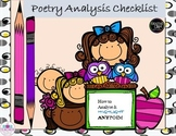 Poetry analysis checklist and handout