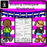 Poetry analysis worksheets