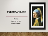 Poetry and Art Matching Scavenger Hunt
