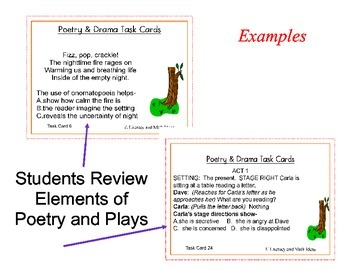 Poetry and Drama Task Cards