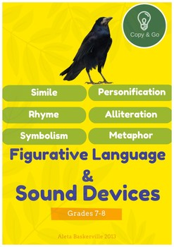 Lessons & activities on figurative language techniques and sound terms in poetry
