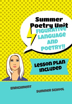 Poetry and Figurative Language 7 -10 Day Unit Plan with Resources