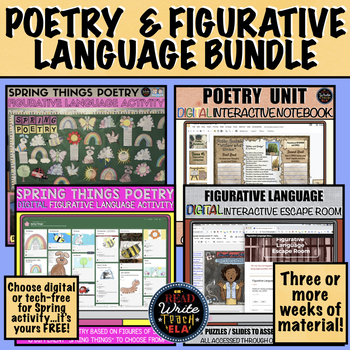 Poetry and Figurative Language BUNDLE