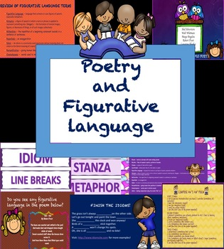 Poetry and Figurative Language Interactive Powerpoint