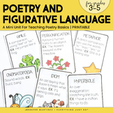 Poetry and Figurative Language Mini-Unit   3rd, 4th, 5th