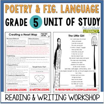 poetry unit of study grade 5 by jen bengel teachers pay teachers. Black Bedroom Furniture Sets. Home Design Ideas