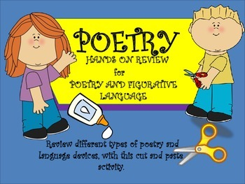 Poetry and Figurative Language:Cut and Paste Review Activity