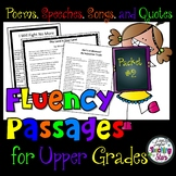 Reading Fluency Passages for Upper Grades Packet #2
