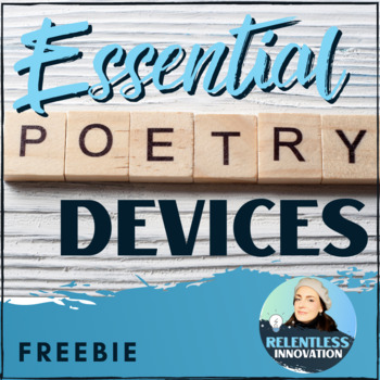 Poetry And Literary Devices Overhead By Relentless Innovation Tpt