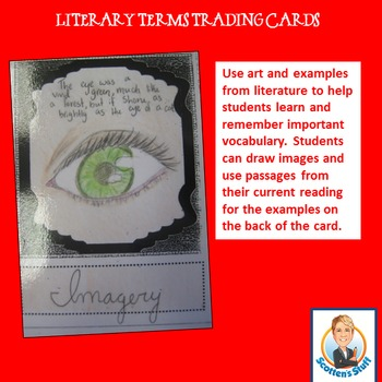 Poetry and Literary Term Trading Cards