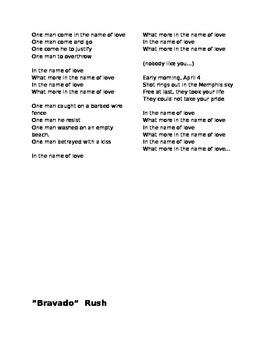 Poetry and Music Lyrics