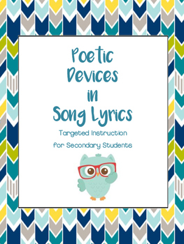 2016 poetry and poetic devices in song lyrics targeted instruction 2016 poetry and poetic devices in song lyrics targeted instruction with tech stopboris Image collections
