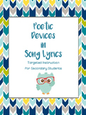 2016 Poetry and Poetic Devices in Song Lyrics Targeted Ins