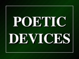 Poetry and Poetic Devices powerpoint