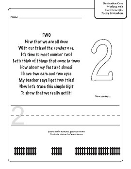 Poetry and Practice With Numbers 1 through 10