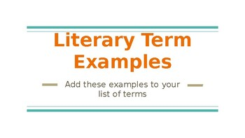 Poetry and Romeo and Juliet Literary Term Examples