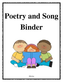 Poetry and Song Center Binder