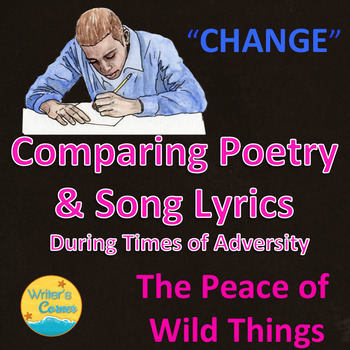 Compare and Contrast Poetry and Song Lyrics Bundle, Writing Fluency, Sub