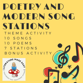 Poetry and Song Stations - Theme Activity (10 songs & 10 poems!)