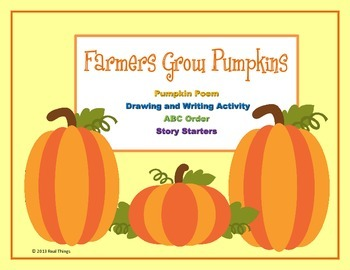Pumpkin Poetry and Writing Packet-Farmers Grow Pumpkins