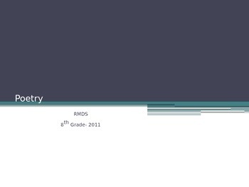 Poetry definition and samples Powerpoint