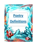 Poetry definitions for classrooms
