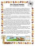 Poetry dramatic presentation - autumn, Thanksgiving, Halloween