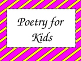 Poetry for Kids PowerPoint