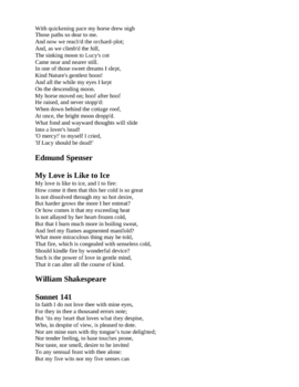 Poetry for Lovers - Browning, Crane, Millay, Wordsworth, Poe
