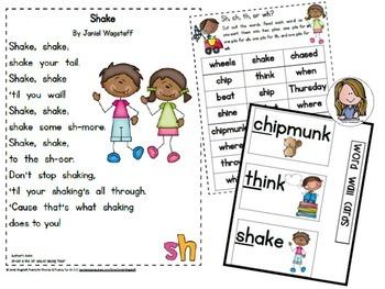 Poetry for Phonics & Fluency Fun! Gr. K-2 Growing Bundle Vowels, Digraphs +