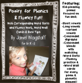 Poetry for Phonics & Fluency Fun With Word Sorts + Gr. K-2  Vowels, Digraphs +