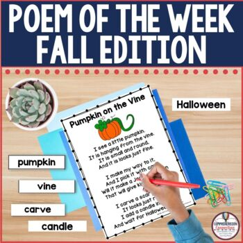 A Poem a Week Fall Edition