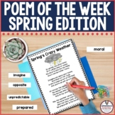 Poem of the Week Spring Edition