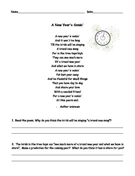 Poetry for the New Year