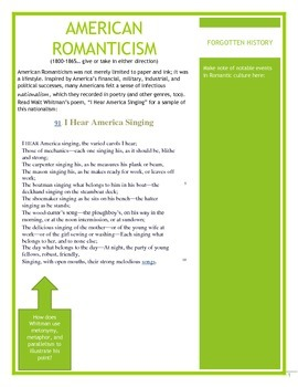 Poetry from American Romantics