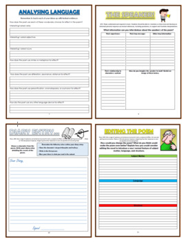 Poetry from World Cultures Comprehension Activity Booklets!
